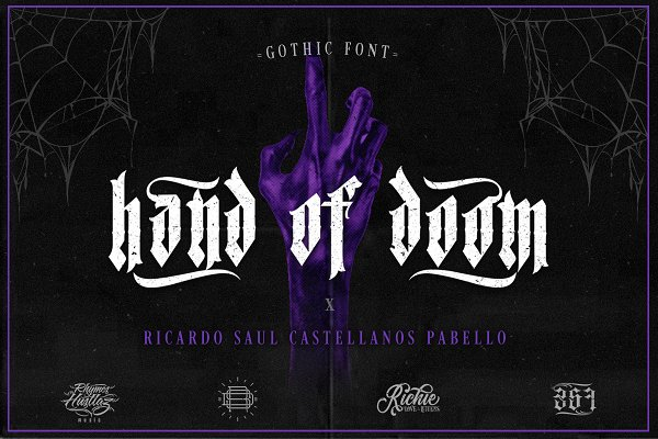 Blackletter Fonts: Richie Mx - Hand of Doom (Gothic Font)