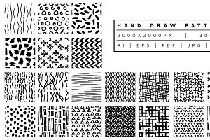 Hand draw Patterns Bundle II