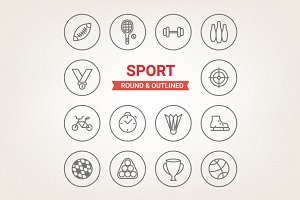 Circle sport icons