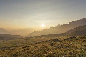 Sun in Dolomites