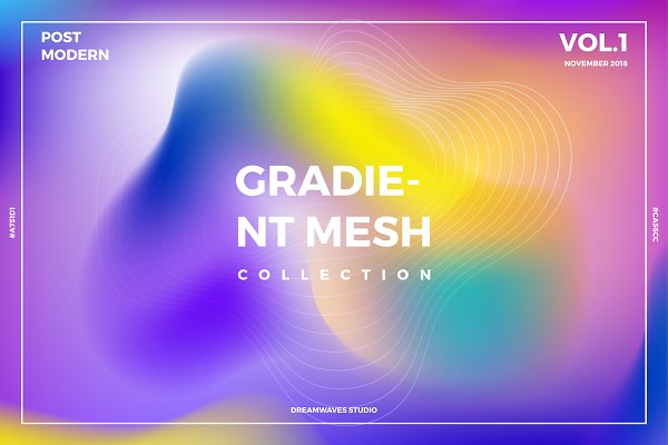 Textures: dreamwaves - Gradient Mesh Collection Vol. 1