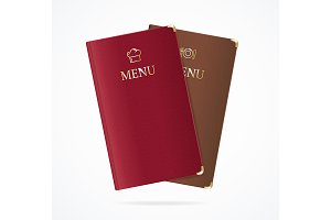 Red and Brown Menu Restaurant Set