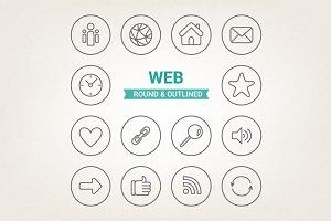 Circle web icons