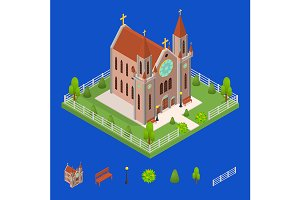 Christian Catholic Church Concept 3d