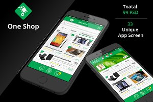 Shop & Social iOS App UI kit-2