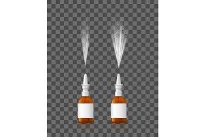 Realistic 3d Spray Nasal Set