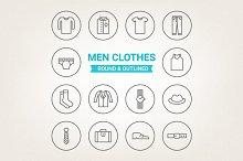 Circle men clothes icons