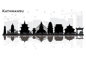 Kathmandu Nepal City Skyline