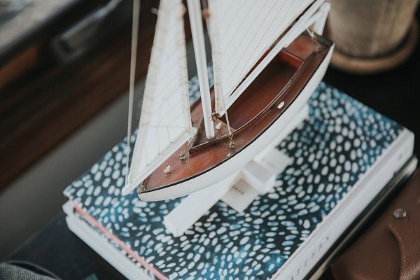 Abstract Stock Photos: remi + tori - Model boat on books