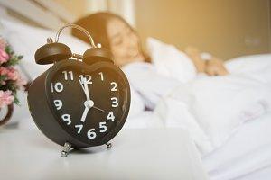 Alarm clock in the bedroom