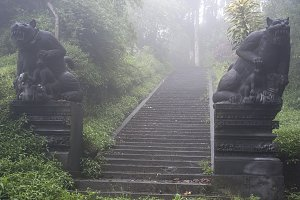 Entrance to the ancient temple, Bali