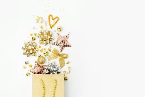Decorations in a shopping bag