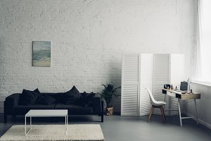 interior of living room with couch a