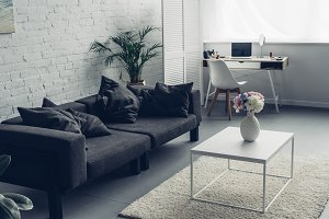 interior of modern living room with