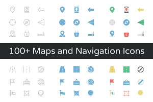 100+ Maps and Navigation Vector Icon