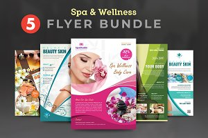 Beauty & Spa Flyer Template Bundle