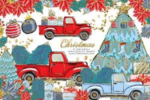Cozy Christmas Illustration Clipart