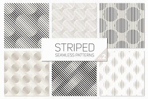 Striped Seamless Patterns Set 2