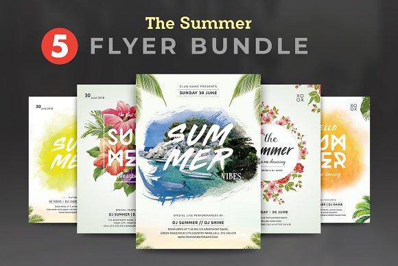 summer party flyer bundle flyer templates creative market