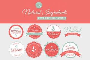 Natural Ingredients Badges, Vol 1