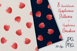 8 Raspberries Patterns & Brash