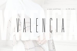 Valencia Font - 10 Styles Sans Serif