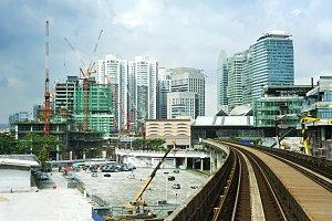 Cityscape with railway,Kuala Lumpur