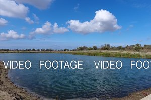 An artificial lake for fishing. A