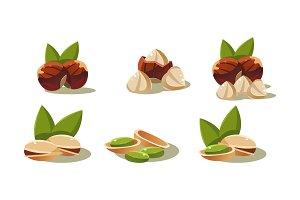 Fresh olives and pistachio nut