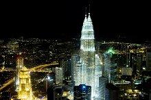 Panorama of Kuala Lumpur, Malaysia