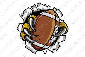 Football Ball Eagle Claw Talons