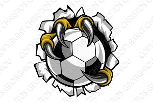 Soccer Ball Eagle Claw Talons