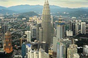 Daytime panorama on Kuala Lumpur