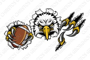 Eagle Football Cartoon Mascot