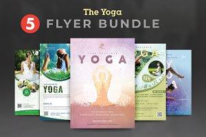Yoga Fitness Flyer Bundle