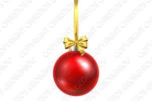 Bauble Christmas Ball Glass Ornament
