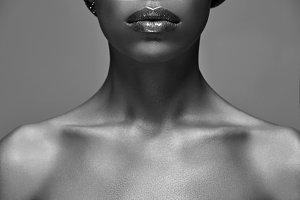 black and white photo of african ame