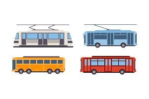 Trolley bus, tram, bus, public city