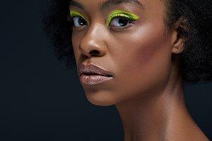 portrait of beautiful african americ
