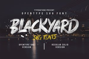 Blackyard OpenType - SVG Font