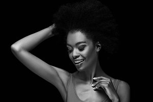 black and white photo of beautiful a
