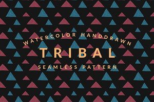 Red & Blue Tribal Pattern Vol. 1