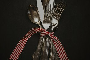 Silver Cutlery with French Ribbon