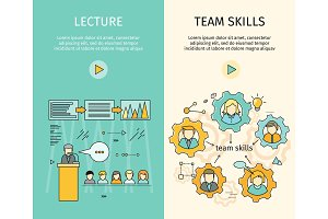 Set of Business Education Vector Web