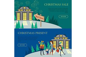 Christmas Sale and Present Web