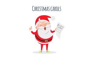 Santa Claus Sing Xmas Carols. Singer