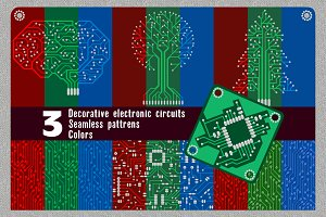 Patterns in form of electronic board