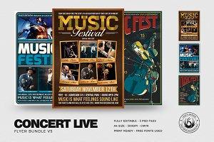 Concert Live Flyer Bundle V5