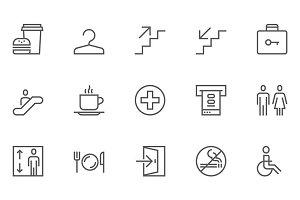 Public Navigation Line Icons