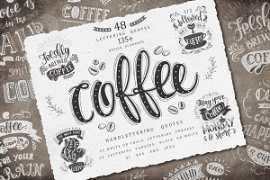 Coffee. Handlettering Quotes.